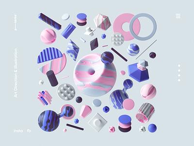 Colors cgi digitalart colors adobe octanerender octane uiux webdesign web geometric abstract cinema4d render typography branding ui design illustration c4d 3d