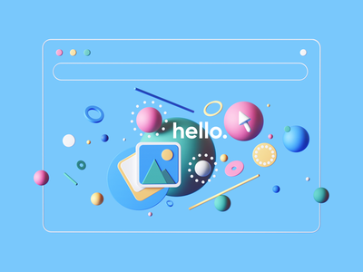 Landing Illustration tarka colors geometric landingpage landing webdesign web uiux ui cinema4d c4d 3d