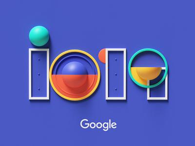 Google IO 2019 style petertarka 3dart logo design octanernder octane code developer google logo colors geometric abstract cgi cinema4d render design illustration c4d 3d