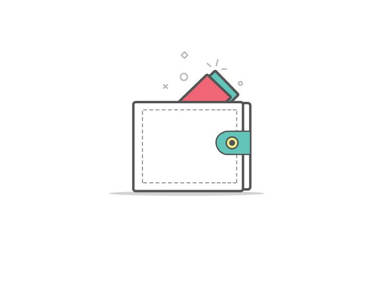 Zefo Wallet Icon Design illustrator e-commerce iconography walleticon