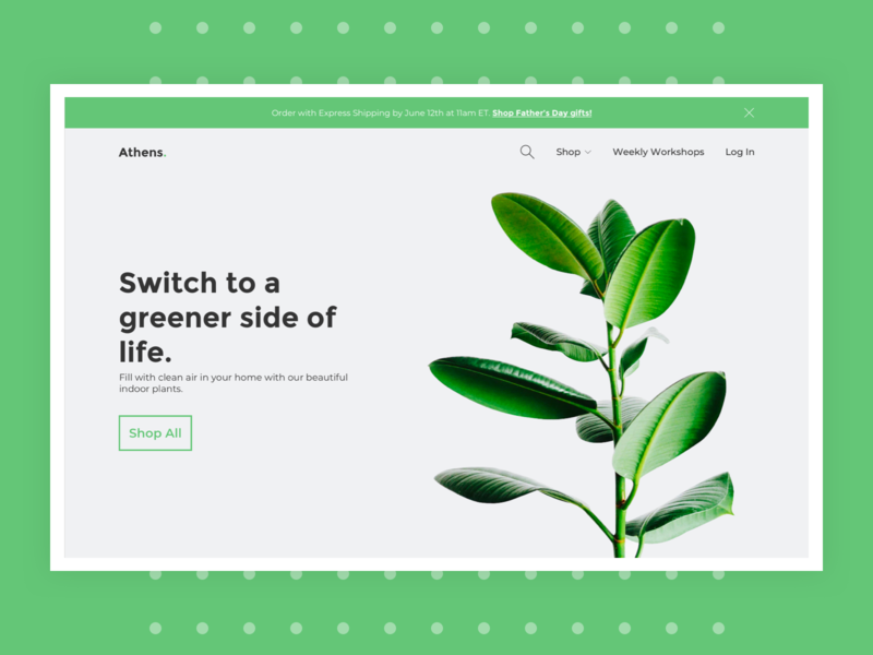 Athens Homepage UI minimal design sketch typography e-commerce uidesign ui design dribbble