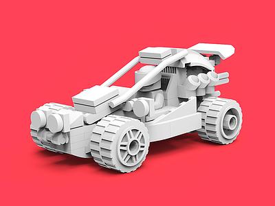 Lego Car/Clay render legodesign 3d clayrender c4d color render tolitt gamedev lowpoly
