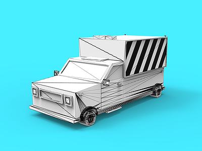 Uv car topology uv lowpoly gamedev tolitt render color modo clayrender 3d