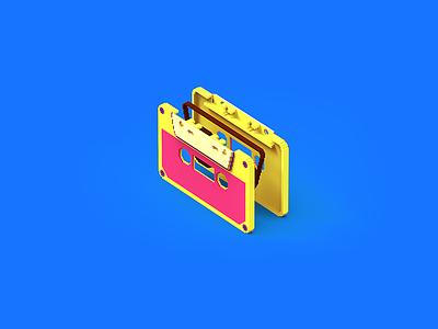 Casseta #2 / process of work design branding illustration topology uv lowpoly gamedev tolitt render color modo 3d indiegame gameitems