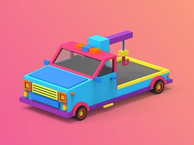 4/4 Car indiegame makedev c4d 3d clayrender color render tolitt gamedev lowpoly