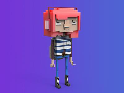 Valentine illustration game design character lowpoly gamedev tolitt render color 3d c4d makedev indiegame