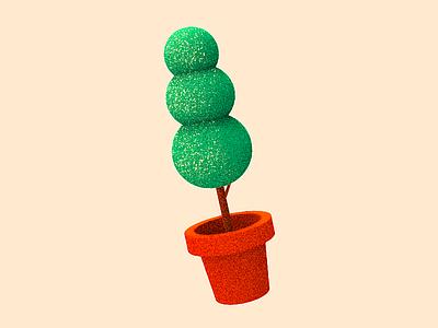 Replication brush tree photoshop lowpoly tolitt render color plant 3d c4d fun paint