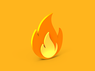 Flame icon tolitt gamedev indiegame illustration lowpoly color flame render creative identity app logo isometric brand web ui icon