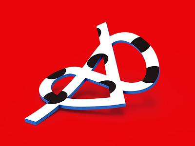 Logo Typography work wip experiments render logotype app memphis branding tolitt 3d typography logo
