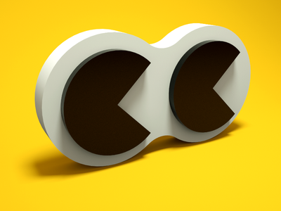 Eyes/2x pacman (c4deveryday) everyday octane 3d c4d lowpoly color render cinema4d