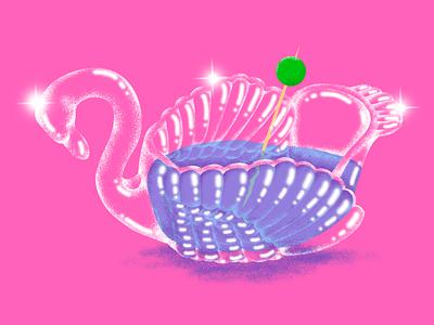 'Glass Swan' graphic design design illustration adobe photoshop adobe illustrator