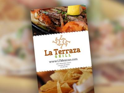 La Terraza Grill Menu menu restaurant graphic design menu design