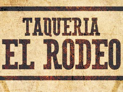 Taqueria El Rodeo Business Card restaurant business card design graphic design