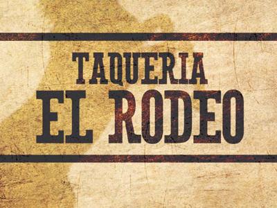 Taqueria El Rodeo Menu restaurant graphic design menu design