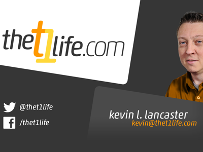 The T1 Life Business Card graphic design