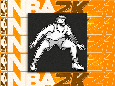 NBA 2K21 Training Camp icon nba2k21 nba basketball ui icon pictogram illustration