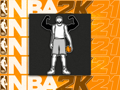 NBA 2K21 Training Camp icon nba2k21 basketball ui nba icon pictogram illustration