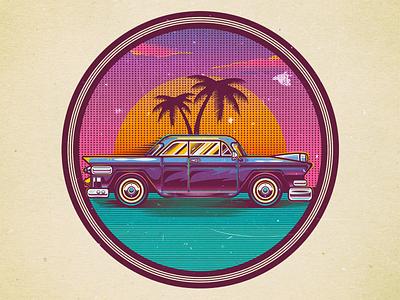 Vintage Chevrolet illustration illustration car chevrolet usa california retro classic vintage