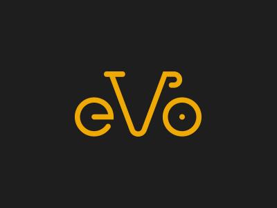 eVo logo bicycle cycling signet minimal velo logo bike