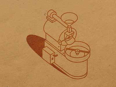 Coffee grinder by Etno Cafe pictogram line art package design grinder cafe grinder cafe etno icon minimal illustration vector ui
