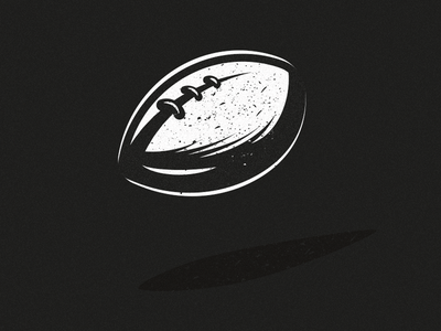 Rugby ball old school vintage retro sport basketball rugby vector pictogram icon illustration