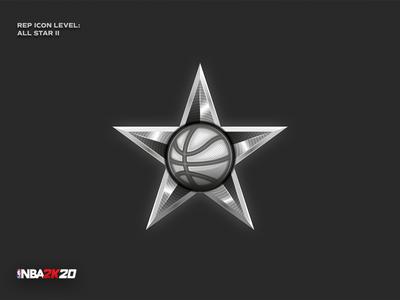 NBA 2K20 - All Star rep icon game nba2k20 nba star sport basketball design detail digital ui pictogram vector logo icon illustration