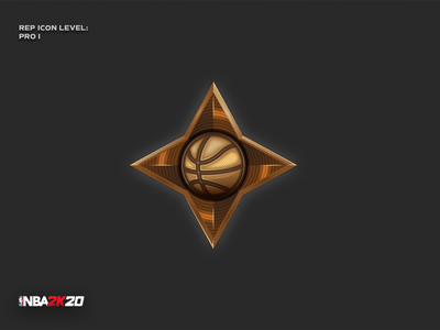 NBA 2K20 - Pro I rep icon star game nba2k29 nba basketball sport digital detail signet design pictogram vector logo icon illustration