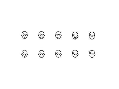 Face emoji icons smiley emotions iconpack iconset icons emoji faces