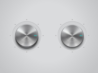 Metal knob metal volume dial knob radial illustrator vector stainless steel control button