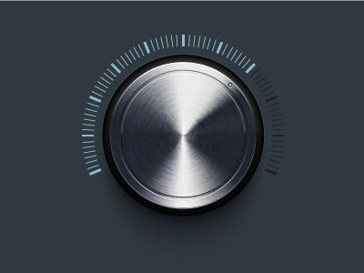 Knob knob volume dial knob metallic