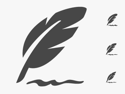 Feather Icon Study icon feather
