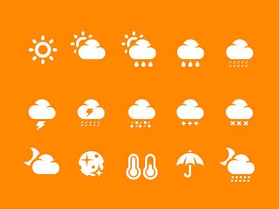 Weather Icons weather icons weather icons pixel perfect pixel glyphs symbols forecast cloud