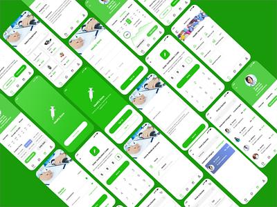 Medical App UI Kit doctor profile live call chat conversation mobile app ui medicines treatment medical doctor adob xd figma chat app ux trends ui trends uiux design ui branding graphic design