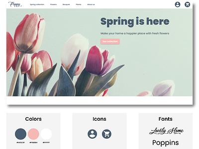 Flower shop Website Homepage ui web design website design website