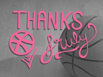 Thanks Sruly! basketball debut lettering thank you
