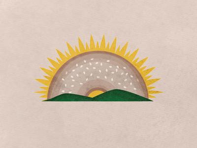 rising bagel - cafe logo (wip)