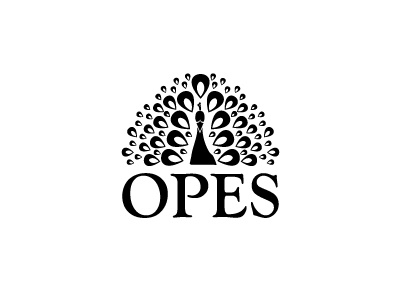 Opes peacock logo peacock logo opes design wealth vector
