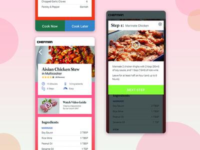 Chefman Smart-recipe UI