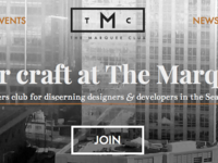The Marquee Club header & hero banner prototype