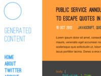 Generated Content redesign
