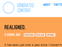 Generated Content redesign, skinny/mobile view