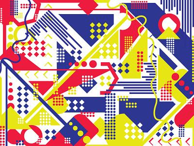 Crazy Geometric Pattern! dribbbleweeklywarmup geometric art crazy pattern illustration illustrator pattern design pattern