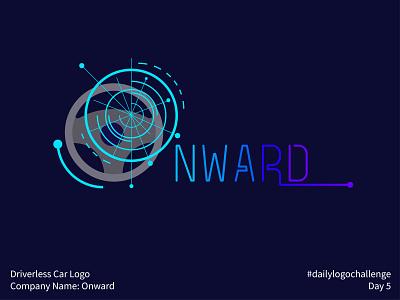 #dailylogochallenge - Day 5 dailylogochallenge driverless car car onward illustration logo mark logo design logo