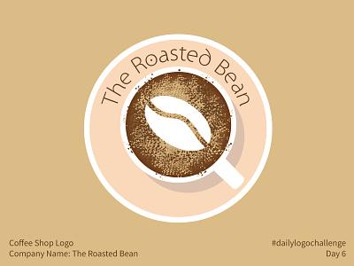#dailylogochallenge - Day 6 dailylogochallenge roasted roasted bean coffee bean coffee shop coffee cup coffee logo design logo mark logo illustration