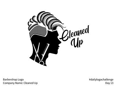 #dailylogochallenge - Day 13 logo design logo mark logo haircut hairstyle hair design manly male man comb scissors barbershop cleaned up dribbbleweeklywarmup dailylogochallenge barber simple pattern negative space logo