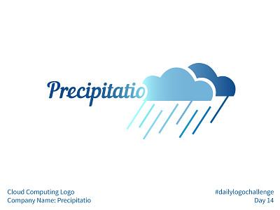 #dailylogochallenge - Day 14 dailylogochallenge simple gradient cloud computing blue rain clouds cloud precipitatio precipitation logo design logotype logo mark logo