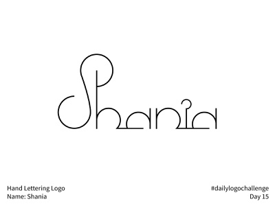 #dailylogochallenge - Day 15 dailylogochallenge minimal plain simple joined connected connect circles geometric geometric type personal name shania hand lettering logo hand lettering logotype logo