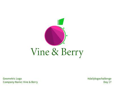 #dailylogochallenge - Day 17 fruit plant green pink purple minimal plain simple vine fractals geometric berry dailylogochallenge illustration logotype logomark logo design logo