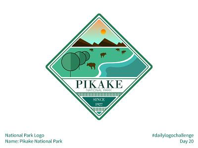 #dailylogochallenge - Day 20 river animals greenery green teal intricate badge logo badge pikake national park pikake national park park dailylogochallenge gradient geometric simple illustration logo mark logo design logo