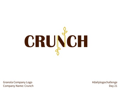 #dailylogochallenge - Day 21 maroon plain crunch gold yellow granola company granola wheat oatmeal oats dailylogochallenge minimal simple illustration logo mark logotype logodesign logo